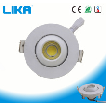 1W دور چشم قابل تنظیم دور توپ تنظیم COB Downlight