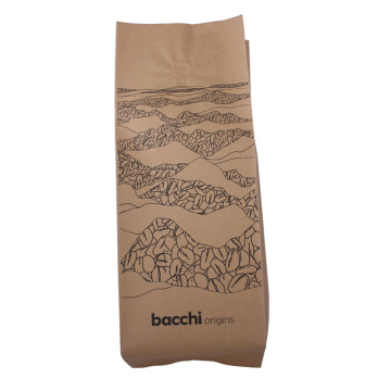 Recycled Material Coffee Bean 250g Kraft Paper Pouch