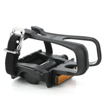 ZK-288 Bike Resin Pedals with Toe Clip/Strap