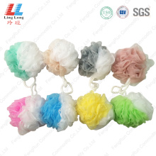 Two sides durable mesh sponge ball