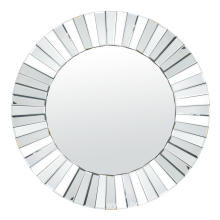 three-dimensional round hanging mirror