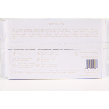 Customized Packaging Bamboo Wet Wipes Biodegradable