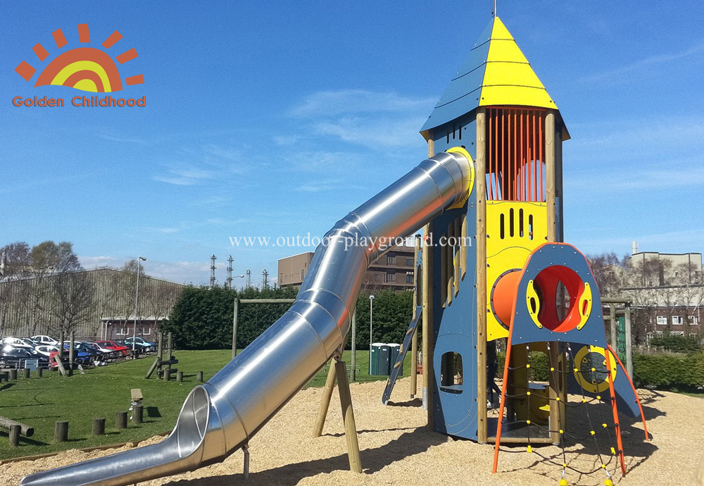 Hpl Outdoor Activity Tower Tube Silde Playground