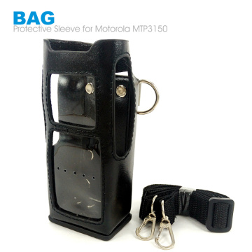 Mtp3150 Leather Protective Sleeve Bag Hard Holster Case for Motorola MTP3150 MTP3100 MTP3250 Walkie Talkie