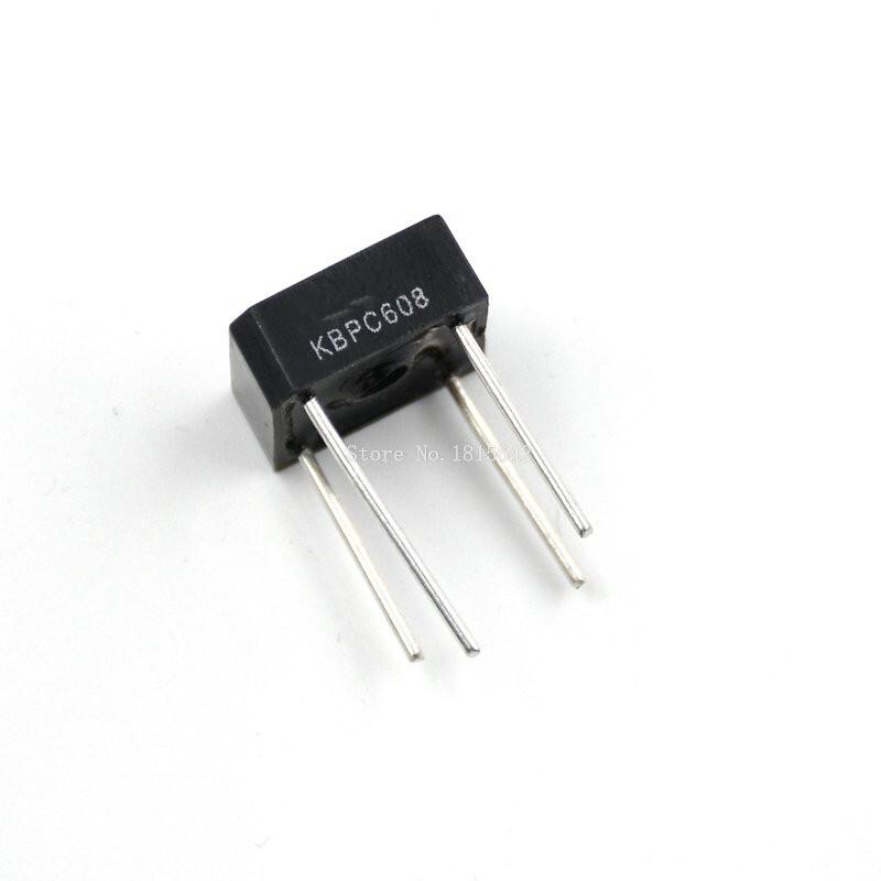 10PCS KBPC608 KBPC-608 6A 800V Single Phases Diode 4pin bridge rectifier new