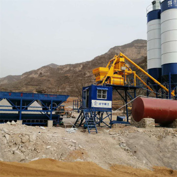 Stationary mini HZS75 concrete mixing plant for sale