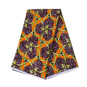 Wax print fabric ankara yellow fabric foe dress