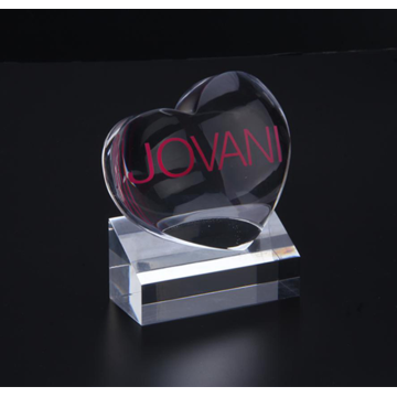 Acrylic Heart Award with Base