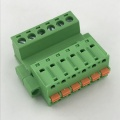 Wire to wire pluggable terminal block with flange