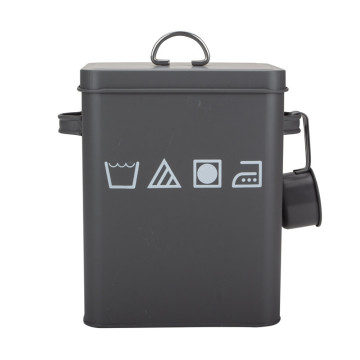 Tin Detergent Powder Box Bin