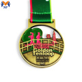 Custom metal enamel running medals