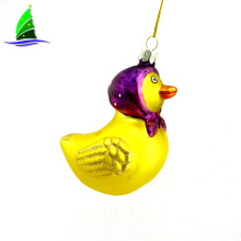Decoration Hanging Outdoor Glass Yellow Duck Ornament