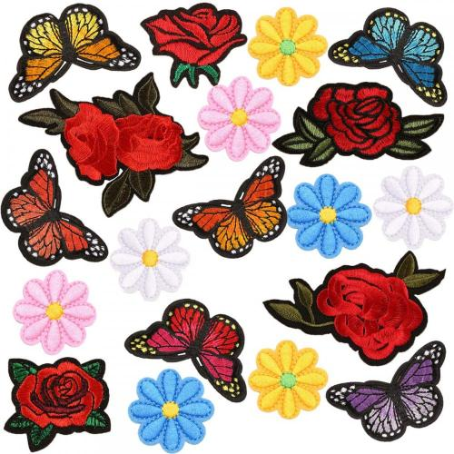 Plain embroidery custom dress decoration patches