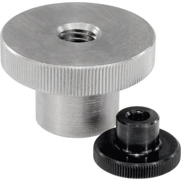 Metric Knurled Nuts with Collar