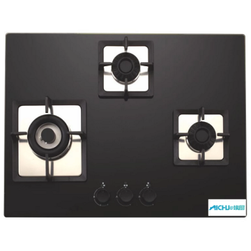 Elica Black Glass 3 Burner Built-in Hob