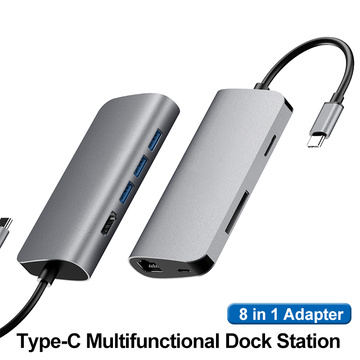 8 IN 1 Docking Station For Laptop
