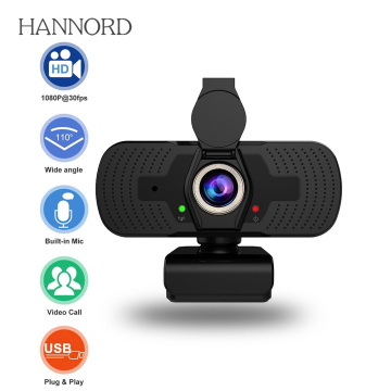 1080P Full HD Webcam with Privacy Cover Microphone Streaming Computer USB Web Camera Cam Video Recording for PC Desktop Work
