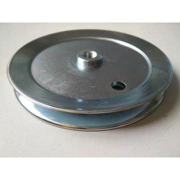 Zinc plated groove PK spun pulley with bush