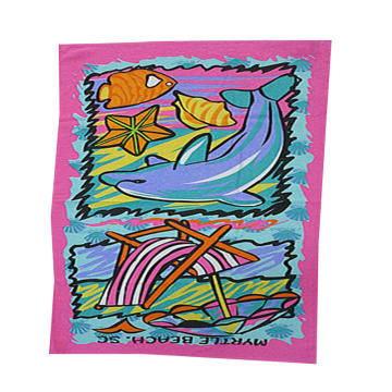 Polyester Magic Beach Towel Sublimation