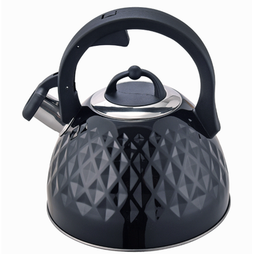 Tea kettle whistling anti-hot handle black