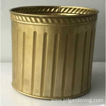 METAL POT FOR PLANTS GOLD