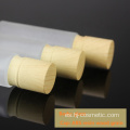 High-grade Cosmetic transparent Frosted glass bottles/jars with wood grain cap