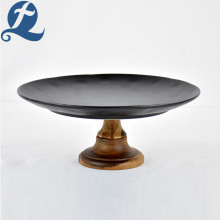 Luxy Matte Black Cake Plate for Decoration