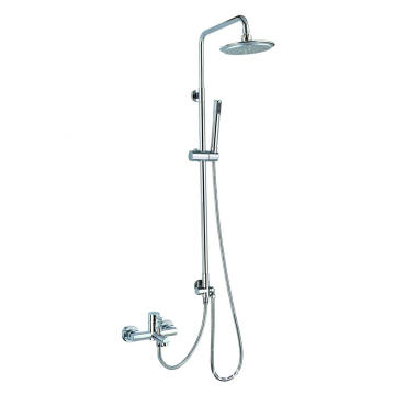 Brass rain shower set tub spout 3 functions