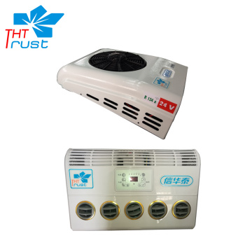 Split battery dirven truck air conditioner
