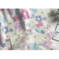 flannel shinning jacquard flower design knitting fabric