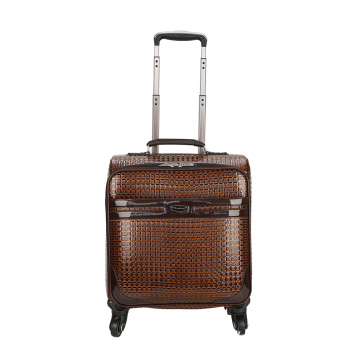 Brilliant PU Leather Trolley Luggage