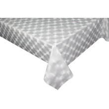 Solid Embossed Fabric Tablecloth Foot Vinyl Table