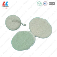 Oval shape sightly bath sponge