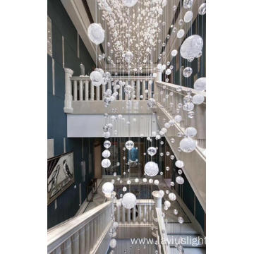 Modern shopping mall villa  crystal chandelier lamp