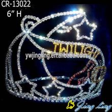 Fashion crown with moon and star shape
