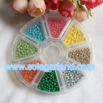 7/8 Grid Clear Plastic Round Jewelry Bead Organizer Box Storage Container Case