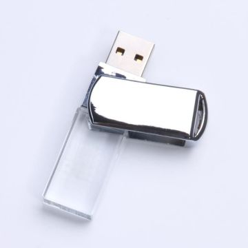 Transparent Crystal Swivel Usb Flash Drive