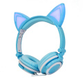 Christmas gift led cat ear headphones glowing