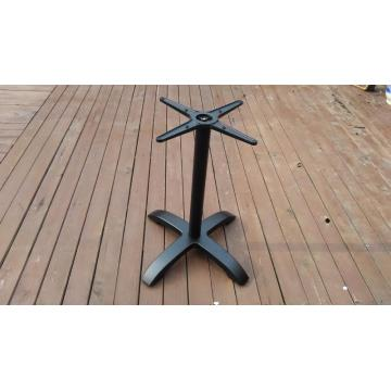 cast aluminum table leg black color