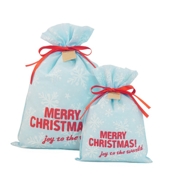 Blue Non Woven Christmas Gift Storage Bag