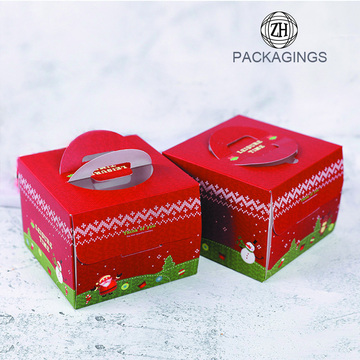 Square Cake Packaging Boxes With Window