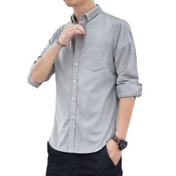 Mens Fashion Long-sleeved Elastic Anti-wrinkle Cotton Shirts