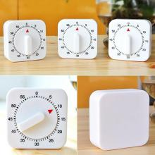 60 Minutes Kitchen Timer Count Down Alarm Reminder White Square Mechanical Timer Home Kitchen Reminder Tool Dropshipping