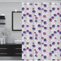Waterproof Bathroom printed Shower Curtain Extra Long