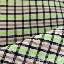 Polyester Viscose Checks High Stretch Fabric