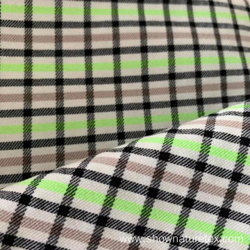 Polyester Viscose Checks Fabric High Stretch