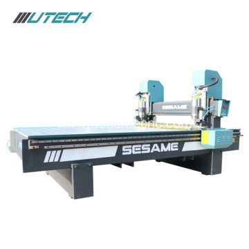 double spindle cnc metal engraving router machine