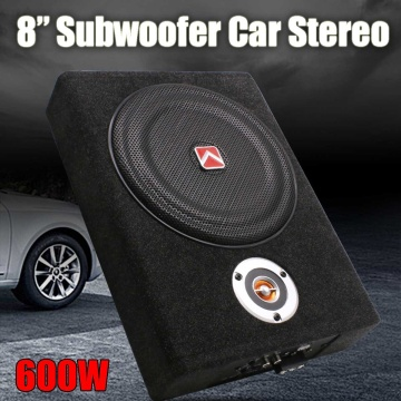 8 Inch 600W Under-Seat Car Subwoofer Modified Speaker Stereo Audio Bass Amplifier Subwoofers Car Audio Auto Speakers