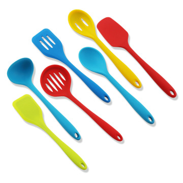 7PCS Rainbow Colored Cooking Silicone Utensil Set