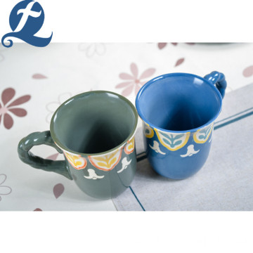 Hot Selling Colorful Custom Hand Painting Ceramic Coffee Mug With Handle